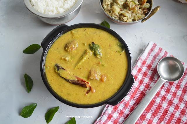Kerala Style Varutaracha Sambar Recipe