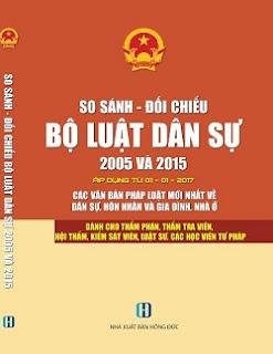 So sánh đối chiếu bộ luật dân sự 2005 và 2015