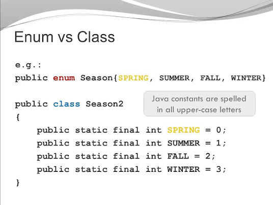 Difference between Enum and Class in Java
