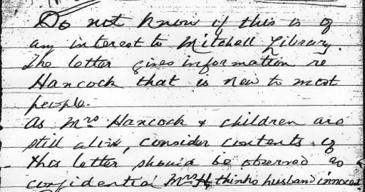 Lieutenant Peter Handcock: Witton's Letter to Thomas 21