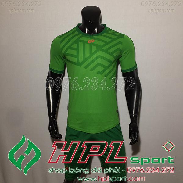 Áo bóng đá không logo CP Asno màu xanh lá