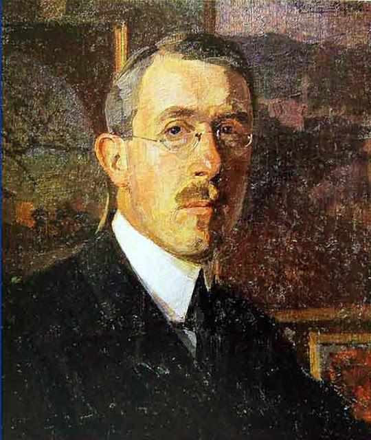 Llewelyn Lloyd, Self Portrait, Portraits of Painters, Fine arts, Portraits of painters blog, Paintings of Llewelyn Lloyd, Painter Llewelyn Lloyd