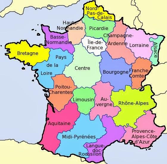 Kaart Frankrijk Departementen Regio S Kaart Departementen