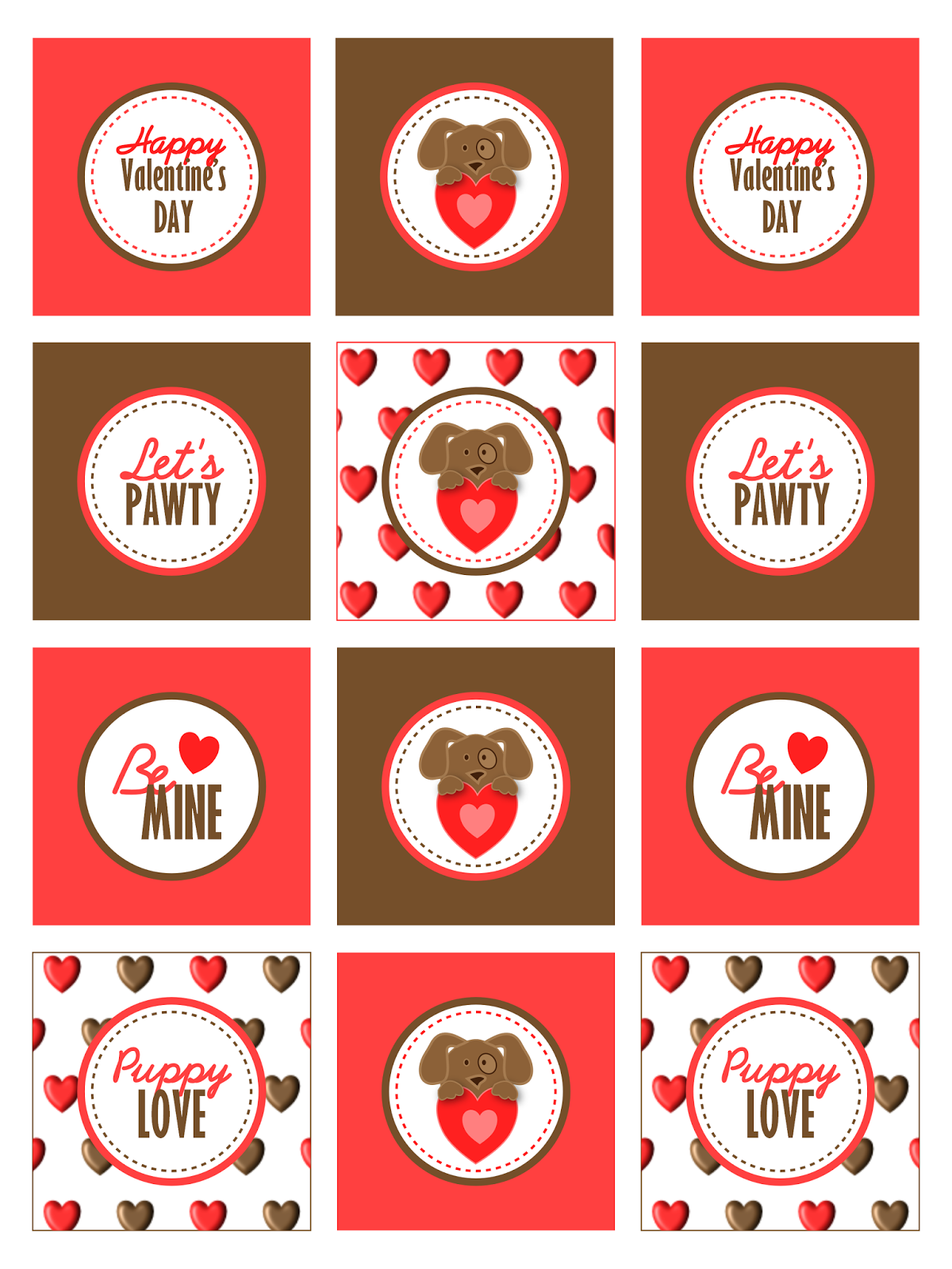 Free Printable Puppy Love Valentine's Day Party Kit - BirdsParty.com