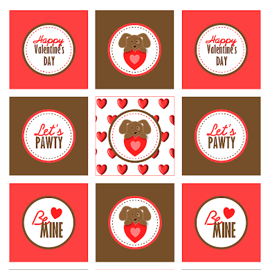 Free Printable Puppy Love Valentine's Day Party Kit