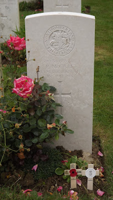 The grave of Private Patrick McCabe.  Photo by John Sheen