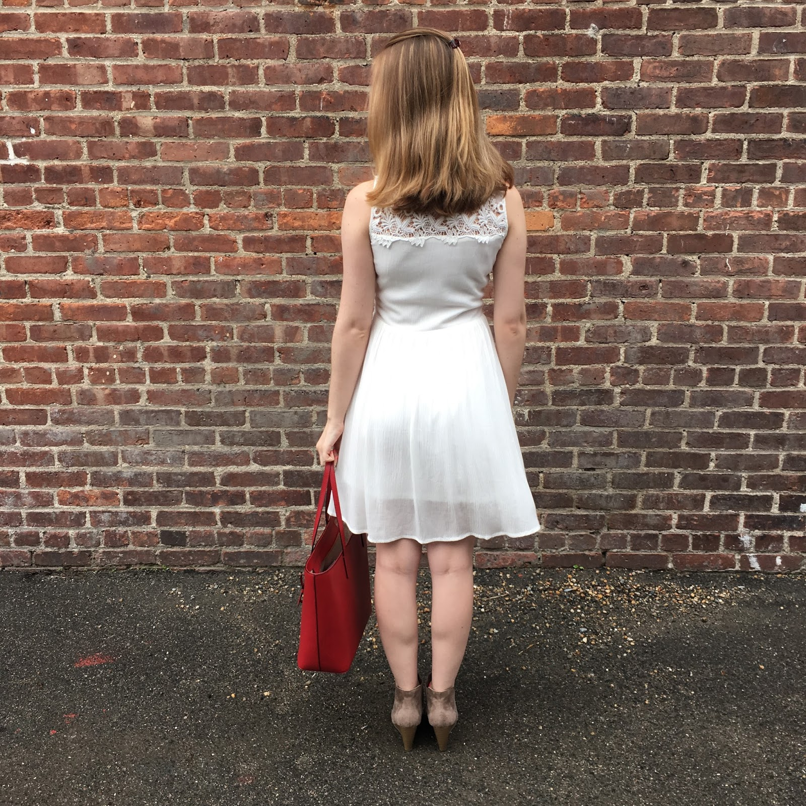 white lace dress spring