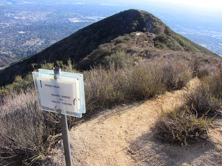 View south toward Jones Peak (3375') from Hastings Ridge junction, Angeles National Forest