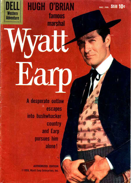 Wyatt Earp v2 #9 - dell western 1960s silver age comic book cover art