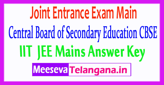 IIT JEE Main Answer Key 2018 Download