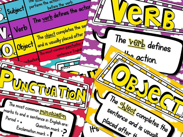 https://www.teacherspayteachers.com/Product/Sentence-Structure-Posters-3029295