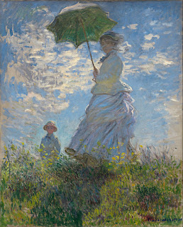 Claude Monet - Madam Monet and her Son
