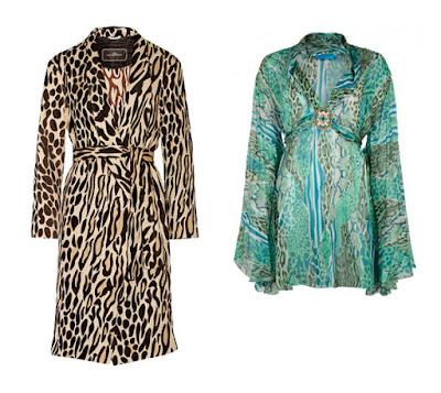 Платье и туника с леопардовым принтом для Яркого цветотипа