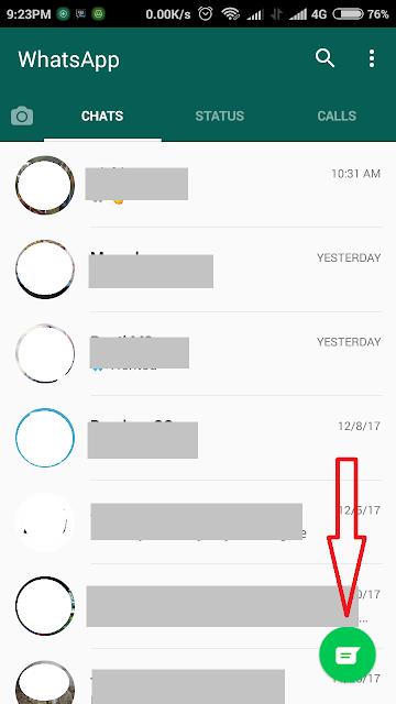 cara menghapus kontak wa