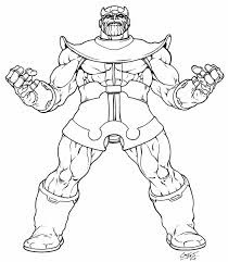Cool Images Of Thanos Coloring Pages