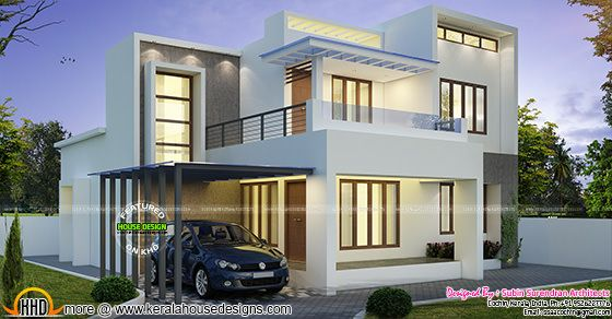 Modern contemporary 4 BHK house