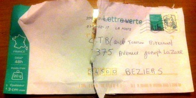 exemple de lettre a poster Chez SébPhilatélie: Tauromachie, lettre verte et coupe papier exemple de lettre a poster