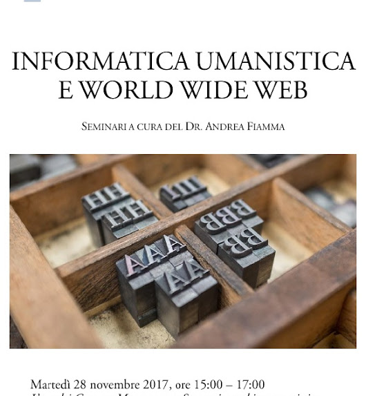 Informatica umanistica e World Wide Web