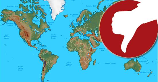 Mapas mentirosos - Mapa-múndi tem distorções de tamanho inacreditáveis