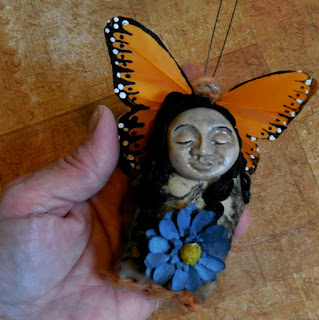Butterfly Woman and Spiritual Growth Miniature Spirit Doll Art Doll