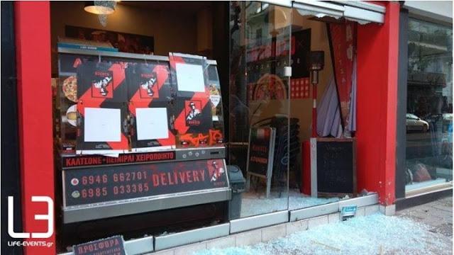 """Έκαναν """"γυαλιά-καρφιά"""" το κατάστημα του εργοδότη που κατηγορείται για τον ξυλοδαρμό διανομέα (photos)"""