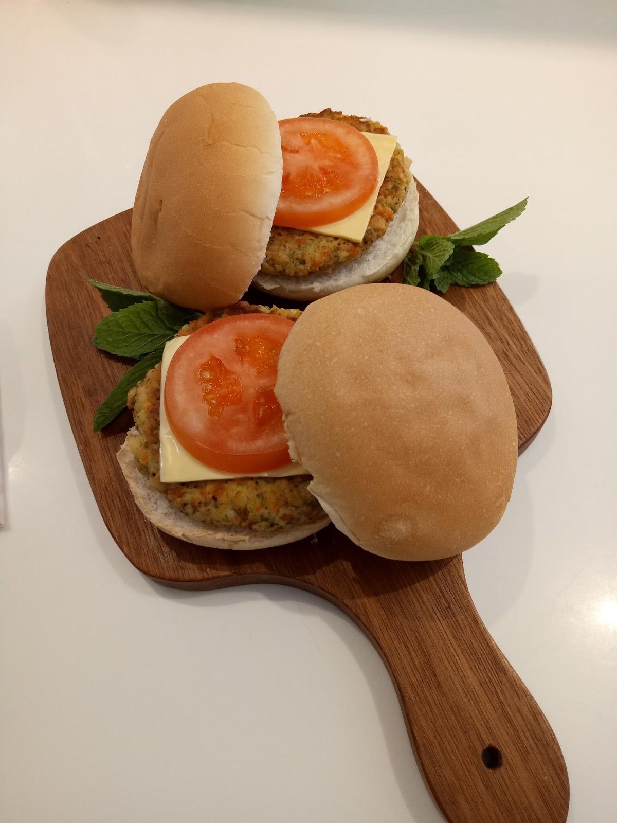 resepi burger cendawan anyar bb Resepi Guna Roti Burger Enak dan Mudah