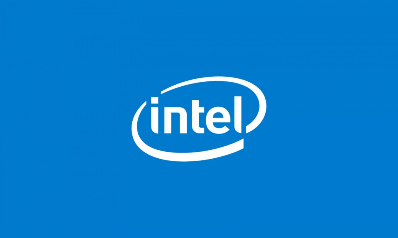 Intel Logo Wallpaper In Blue And White PaperPull
