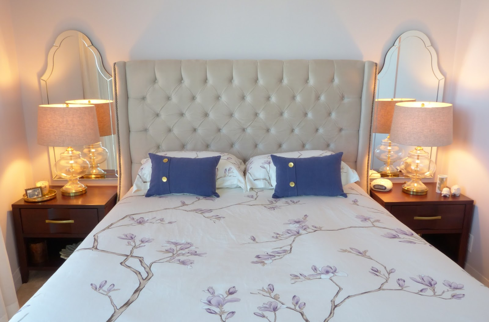 Using Mirrors Above Bedside Tables