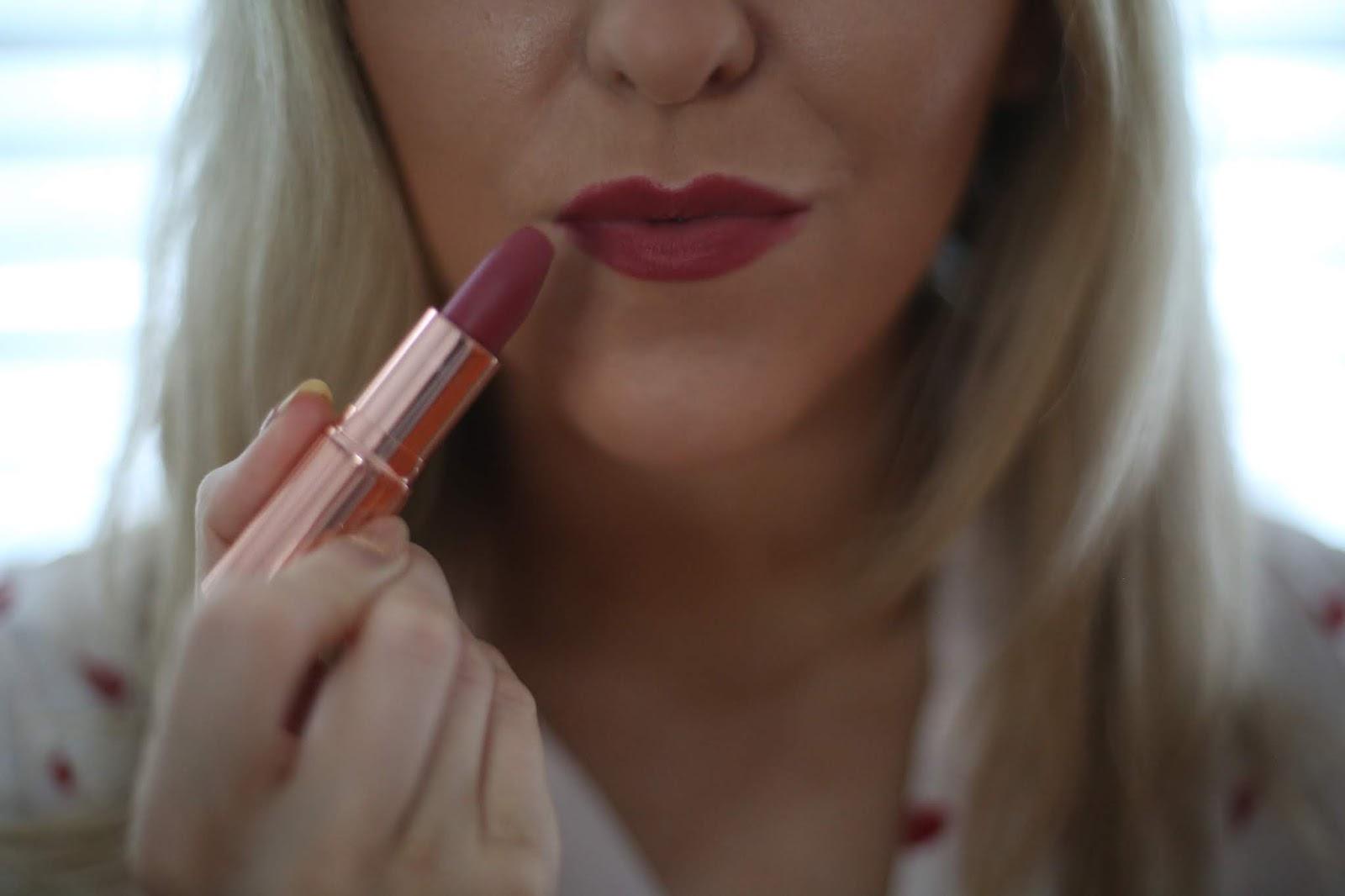 Charlotte Tilbury Matte Revolution Lipstick in Super Sexy swatch