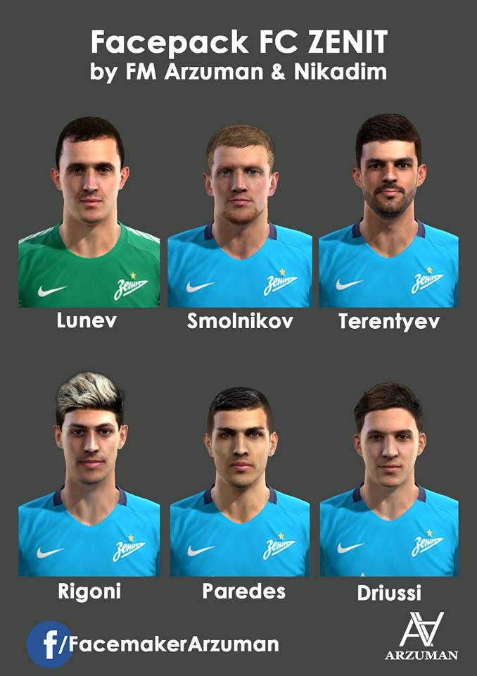 PES 2013 Zenit Facepack by FM Arzuman and Nikadim