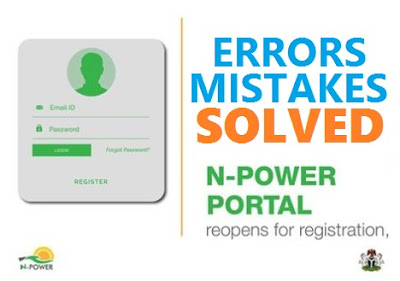 Npower 2017 Registration Errors & Mistakes | NPVN Sign up Account References Number