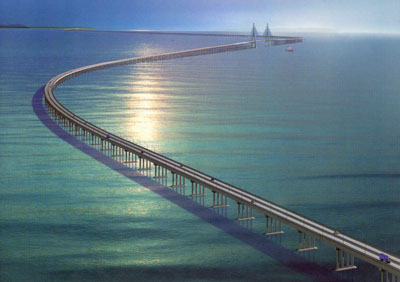 Image result for long sea bridge in the world