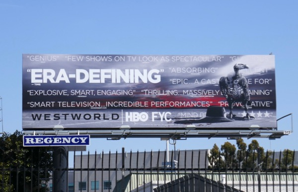 Westworld season 2 Era-Defining Emmy FYC billboard