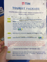 TIM Italia Telecom Tourist Package SIM Card Options