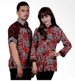 Model Baju Seragam Kantor Batik Couple