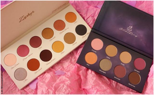 ColorsandMakeup, palettes de fards à paupières - Blog beauté