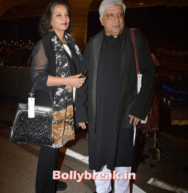 Shabana Azmi and Javed Akhtar, Richa Chadda, Sonakshi Sinha, Asin Leave for For IIFA 2014