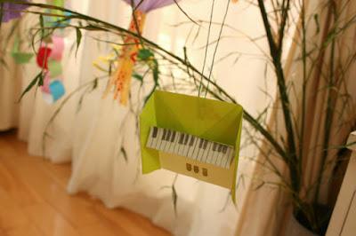 折り紙ピアノ