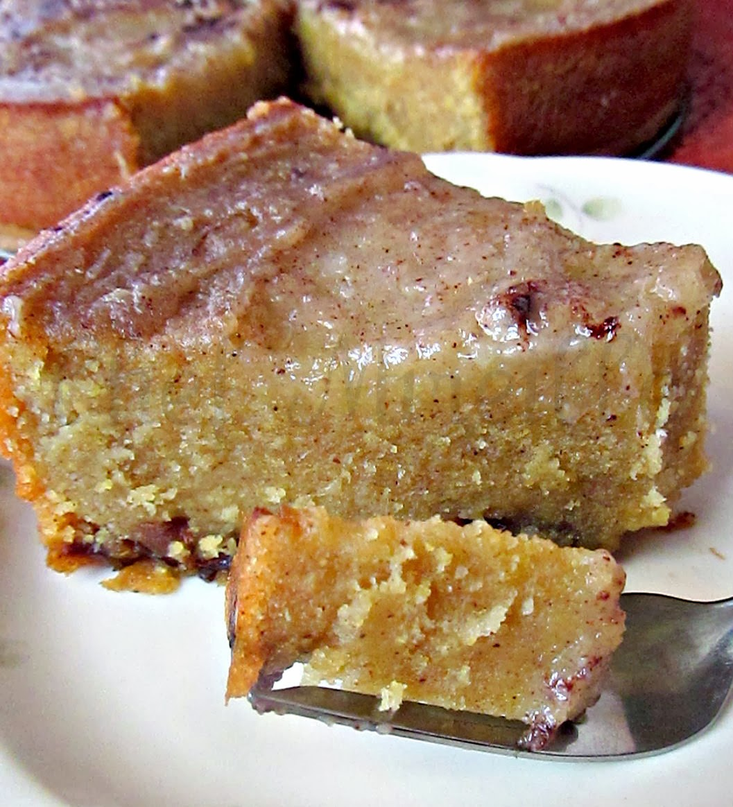 Cornmeal Custard Cake Recipe