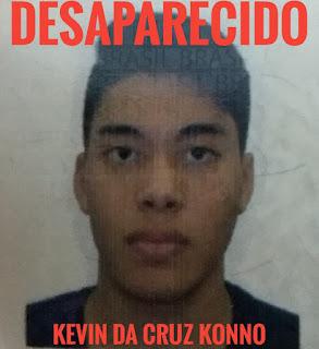 Desaparecido:  Kevin da Cruz Konno em Registro-SP