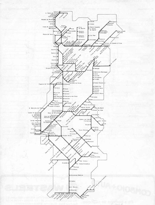 mapa rede ferroviaria portugal A Nossa Terrinha: O mapa da ferrovia portuguesa urbana e regional  mapa rede ferroviaria portugal