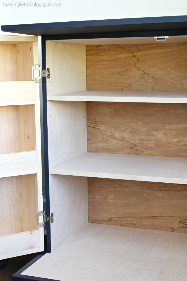 partial wrap hinges on pantry cabinet