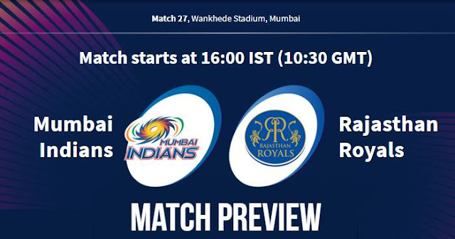 VIVO IPL 2019 Match 27 MI vs RR Match Preview, Head to Head and Trivia