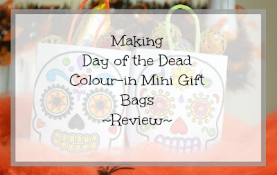 Making Day of the Dead Colour-in Mini Gift Bags from baker ross review