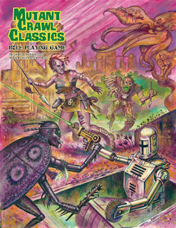 Cover of Mutant Crawl Classics RPG, published by Goodman Games.