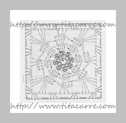 grafico de Dália Roxa em crochet