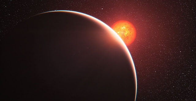 This artist's impression shows the super-Earth exoplanet GJ 1214b. Credit: ESO/L. Calçada