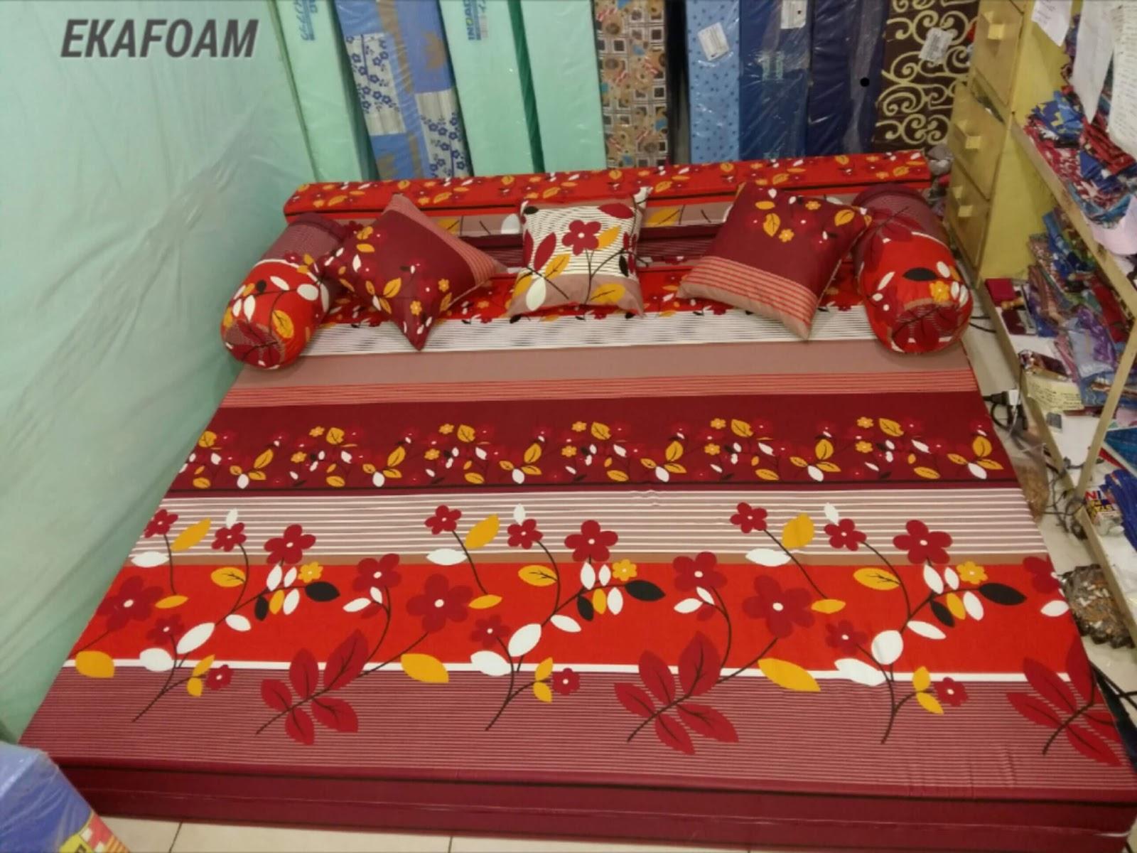 harga sofa bed inoac 2017 sure fit stretch pinstripe 2 piece t cushion slipcover full motif agen resmi kasur busa