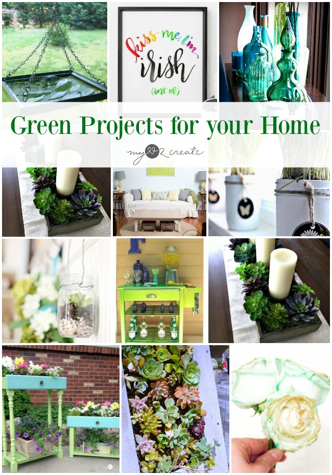 Fun Springy green projects to check out for your home at MyLove2Create