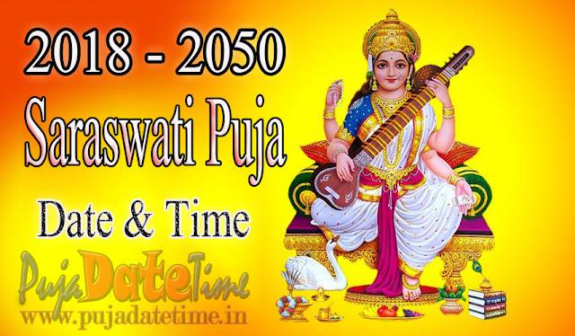 2018 - 2050 Saraswati Puja Date & Time